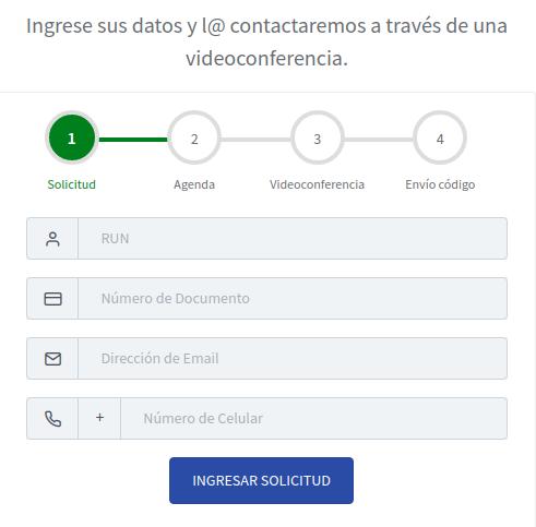 ingresar solicitud de codigo de activacion clave unica en linea registro civil immichile