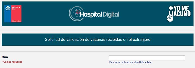 formulario solicitud validacion vacuna chile extranjero