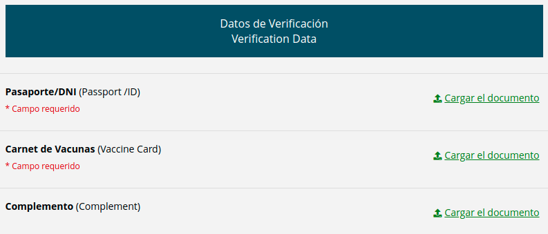 Datos de verificacion validacion vacuna extranjero chile immichile