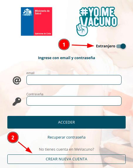 crear cuenta mevacuno gob cl pase de movilidad validacion vacunas extranjero chile immichile ministerio de salud
